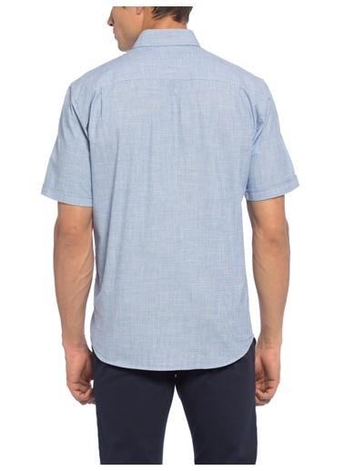 LC Waikiki Kısa Kollu Slim Fit Gömlek Mavi